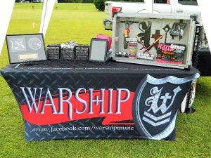 Custom Tablecovers trade show table 300x225